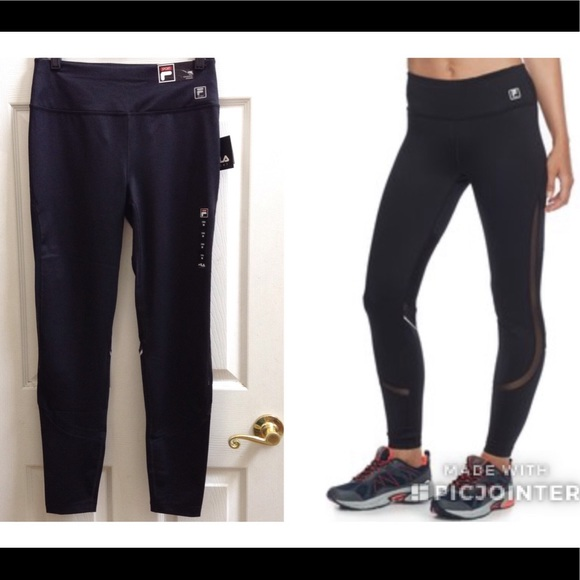 fc87d504d2a72 Fila Pants | Sport Mesh Inset Leggings | Poshmark
